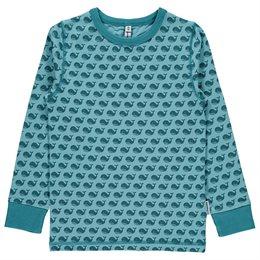 Wal Bio Langarmshirt pastell blau