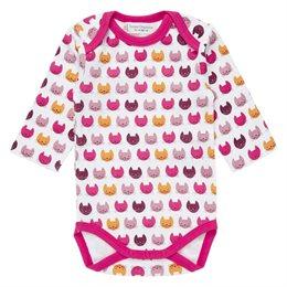 Bio Babybody Kätzchen pink