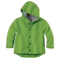 Übergangsjacke atmungsaktive Wolle grün