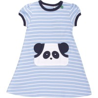 Interlock Panda Kleid hellblau