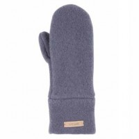 Bio Wolle Kinder Handschuhe anthrazit
