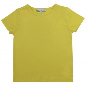 Gelbes Shirt kurzarm uni Basic