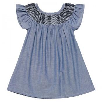 Babykleid aus leichtem Chambre - Gewebe