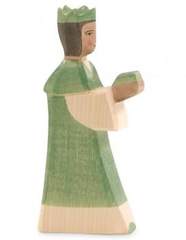 Heilige Drei Könige Krippenfigur grün 16 cm hoch