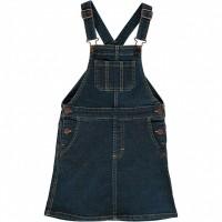 Jeanskleid mit Latzträgern jeans-blau