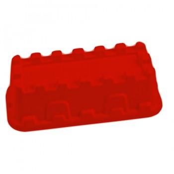 Sandform Burgmauer - rot