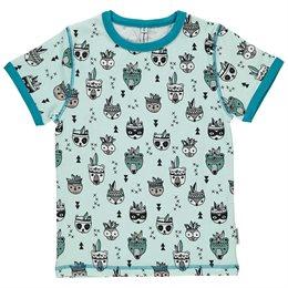 Bio Shirt pastell blau mit Tieren