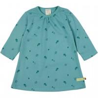Kleid langarm Waldtiermotiv grün