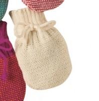 Strick Handschuhe 100% Merino Schurwolle