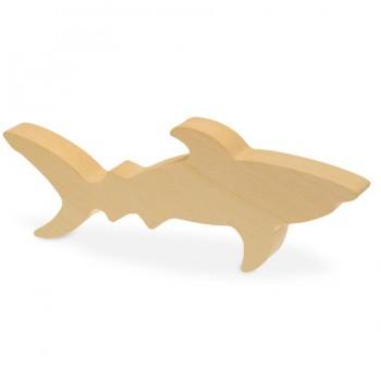 Schnitzrohling Holztier - Hai Fisch