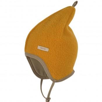 Fleece Mütze doppellagig in ocker