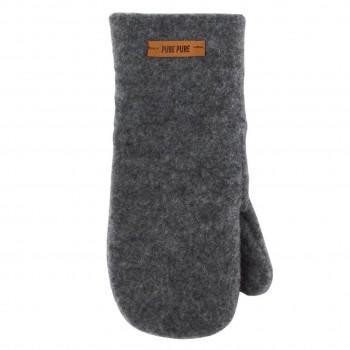 Schiefer-grau Kinder Handschuhe Wolle
