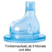 Vorschau: Pura kiki Edelstahl Trinklernflasche ab 6 M - open end pink