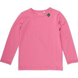 Bio Langarmshirt - tolles dehnbares Basic Shirt - coral