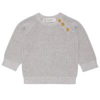 Leichter Baby Pullover gestrickt unisex grau