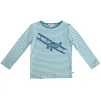 Flugzeug Shirt Aufnäher super edel blau