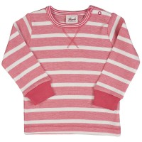 Ringel Langarmshirt leicht Armbündchen koralle/rosa