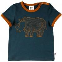 Cooles T-Shirt Nashorn Design in dunkelblau