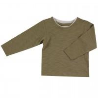 Edles uni Shirt oliv-grün