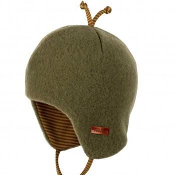 Baby Wintermütze beliebter Klassiker moos-grün