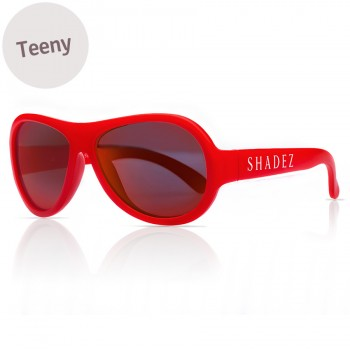 7-16 Jahre flexible Sonnenbrille Teeny uni rot