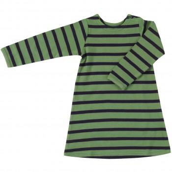 Langarmkleid Streifen grün-navy
