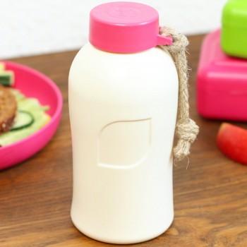 Trinkflasche auslaufsicher & plastikfrei – 400 ml  pink