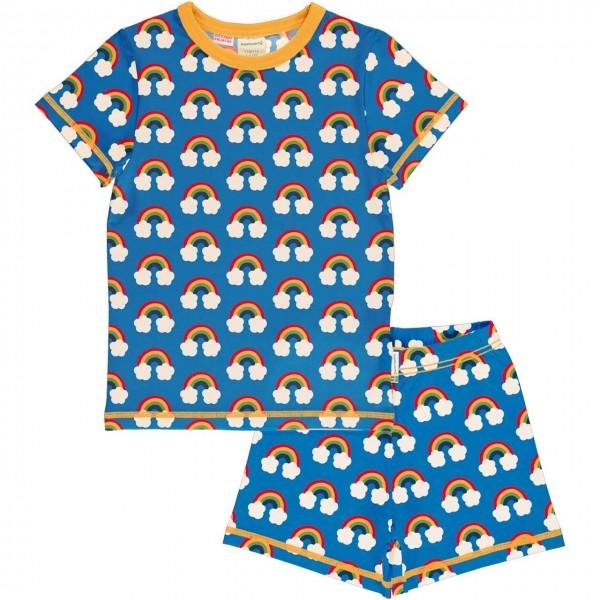 Sommer Schlafanzug Regenbogen blau