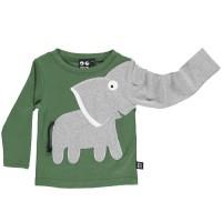 Shirt langarm Elefanten in grün
