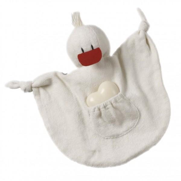 """BIO Waschlappen für Kinder incl. Schafsmilchseife """"Ente"""""""