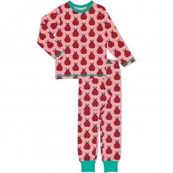 Schlafanzug Marienkäfer langarm rosa