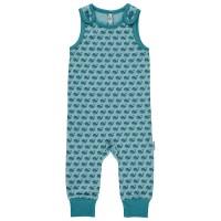 Baby Strampler Wale blau