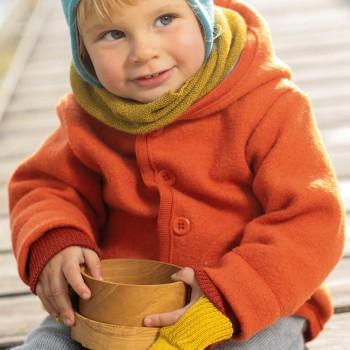 Walk-Jacke mit Knopfleiste in orange