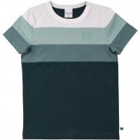 Shirt kurzarm Block-Streifen in Blautönen