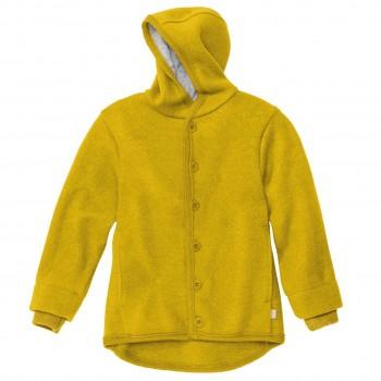 Walk-Jacke mit Knopfleiste in curry-gelb
