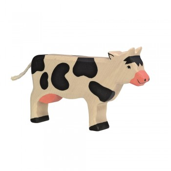 Holzfigur Kuh - auf dem Bauernhof
