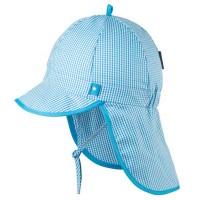 Capi Schirmmütze Nackenschutz hellblau