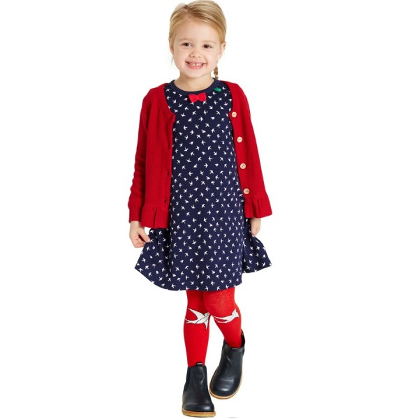 Schwalben Mädchenkleid langarm Jersey | greenstories