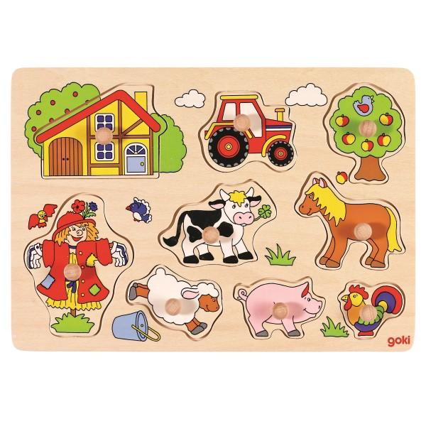 Steckpuzzle Bauernhof - 8 tlg