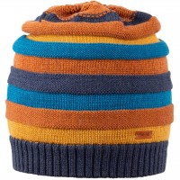 Kinder Strick Wintermütze karamell-braun