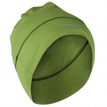 Beanie Herren Damen Wolle Seide grün