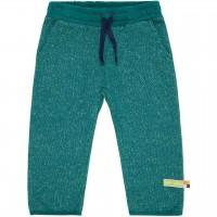 Weiche warme Strickhose in grün melange