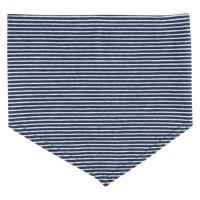 Elastisches Halstuch für Kinder navy binden