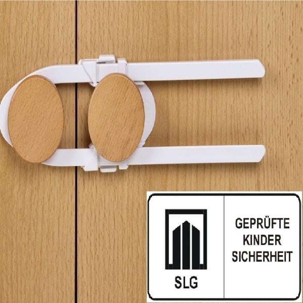 Bügel- & Schrankschloss weiß 21 cm