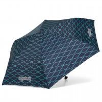 Kinder Regenschirm blaues Wellenmuster