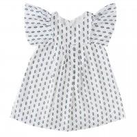 Kleid weiss super leichter Webstoff A-Linie Schnitt natur