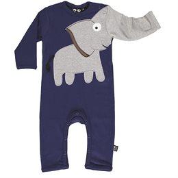 Cooler Elefanten Babystrampler blau