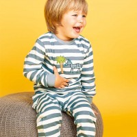 Pyjama Zebra in blau
