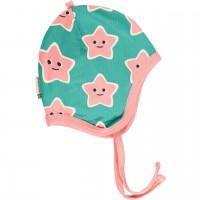 Babymütze leicht mit Ohrenschutz Seestern