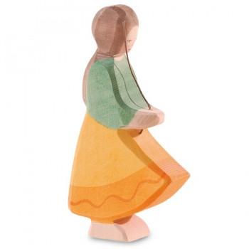 Gänseliesel Figur Holzfigur 12,5 cm hoch